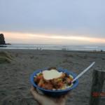 Abschiedsdinner am Piha-Beach: mit Katja, Butterchicken und Ale II