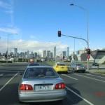 auf den Straßen von Melbourne City