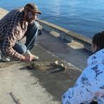 Hairochen-Fang auf Geelongs Pier