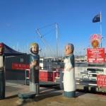 noch ein Holzfiguren-Trüppchen in Geelong