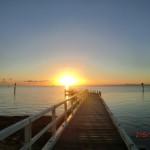 australischer Sonnenuntergang am Meer auf der Bellarine Peninsula vor Portalington III