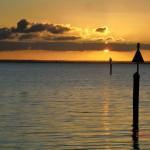 australischer Sonnenuntergang am Meer auf der Bellarine Peninsula vor Portalington VI