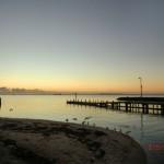 australischer Sonnenuntergang am Meer auf der Bellarine Peninsula vor Portalington XIII