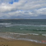 """Queenscliff Lookout: die dunklen Meeresstellen nennen sich """"Rip"""" - total gefährliche Strömungen!!!"""