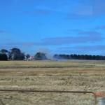 Fahrt durch australische Weiten zu den Grampians III (da brennt es)