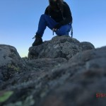Nachmittagswanderung ab Halls Gap in den Grampians - erster Versuch: Gipfelselbstportait