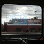 aus dem Fenster der Straßenbahn - auf dem Weg zum Melbourne Airport
