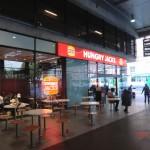 "überall auf der Welt heißt Burger King ""Burger King"", bloß in Australien nennt es sich ""Hungry Jack's"", Southern Cross Station in Melbourne"