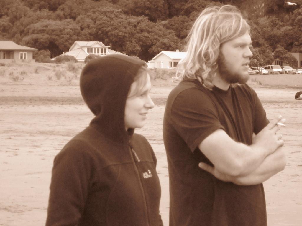 Fotos von Kerstin: Abschiedsdinner am Piha-Beach II