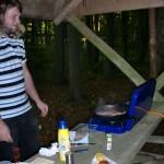 Wolfi und sein Campingkocher (eine seiner Anschaffungen nach NZ)