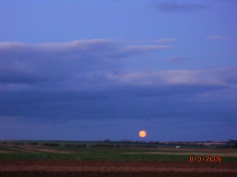 Mond auf der Rückfahrt