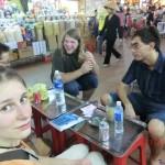 Ho Chi Minh, Rast auf dem Markt