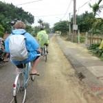 Radtour nahe Hoi An im Nieselregen