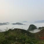 zwischen Lao Cai und Bac Ha - Berge im Morgennebel