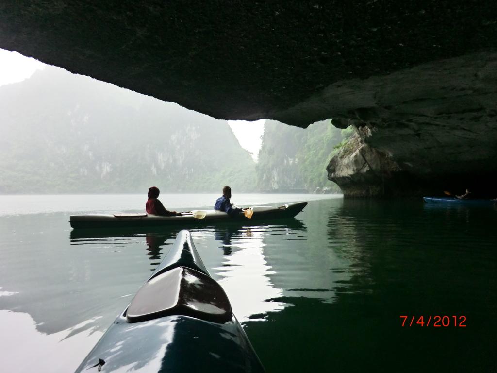 Lan Ha Bay Bootstour V, Kayak-Trip im Regen - war toll!
