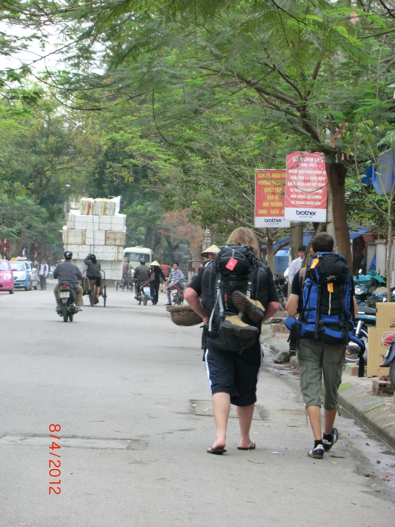 fast am Ende unserer Backpack-Tour, Haiphong